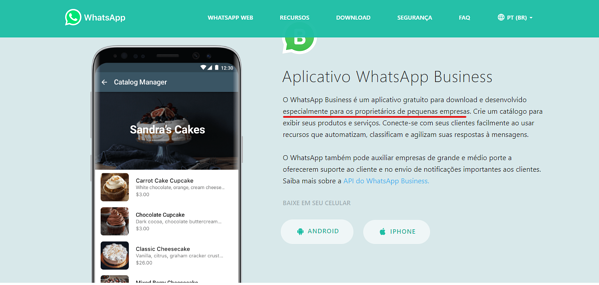 Recomendações de uso do WhatsApp Business