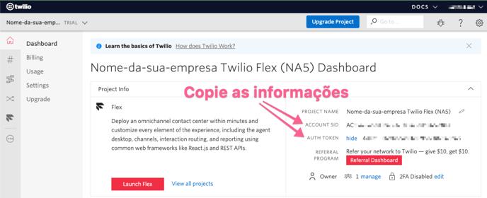 copiar-account-sid-e-auth-token-do-projeto-twilio-flex-para-a-plataforma-na5