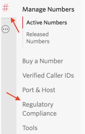 menu-twilio-documentos-regulatorios-regulatory-compliance