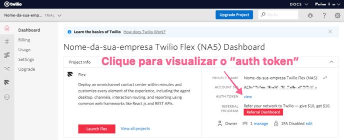 visualizar-auth-token-do-projeto-twilio-flex